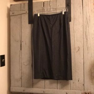 Ralph Lauren wool grey pencil skirt